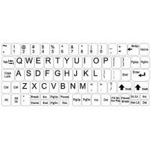 Naklejki na klawiaturę - duży zestaw - białe tło